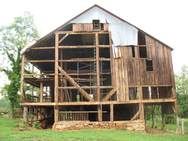 Albemarle Barn Restoration Rockpile Construction